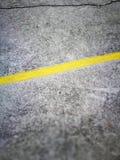 γραμμή κίτρινη Στοκ Φωτογραφία