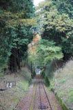 Γραμμή καλωδίων Keifuku Στοκ φωτογραφία με δικαίωμα ελεύθερης χρήσης