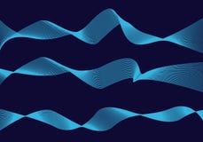 Γραμμή κυμάτων στη διαστημική διαστημική γεωμετρία αφαίρεσης διανυσματική απεικόνιση