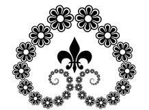 γραμμή λουλουδιών τέχνης διανυσματική απεικόνιση