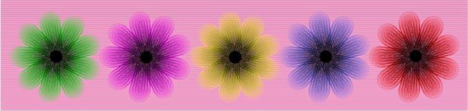 γραμμή λουλουδιών Στοκ εικόνα με δικαίωμα ελεύθερης χρήσης