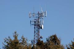 Γραμμή μετάδοσης tower στοκ εικόνα