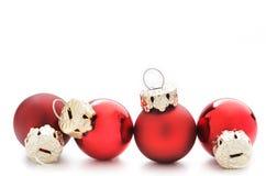 Γραμμή μπιχλιμπιδιών Χριστουγέννων Στοκ Εικόνα
