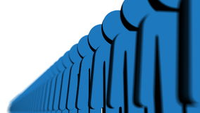 Γραμμή μπλε ανθρώπων διανυσματική απεικόνιση