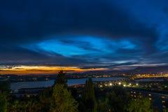 Γραμμή ουρανού λιμνών της Κέρκυρας Στοκ Εικόνες