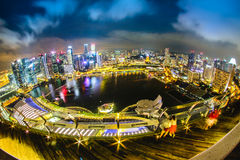 Γραμμή ουρανού της Σιγκαπούρης Στοκ Φωτογραφίες