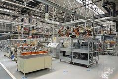Γραμμή παραγωγής εργαστήριο συγκόλλησης Στοκ εικόνα με δικαίωμα ελεύθερης χρήσης