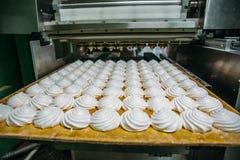 Γραμμή παραγωγής εργοστασίων βιομηχανιών ζαχαρωδών προϊόντων Manufactory ψησίματος μηχανή Zephyr και marshmallows ή τριαντάφυλλων Στοκ εικόνες με δικαίωμα ελεύθερης χρήσης