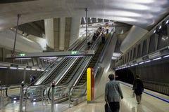 Γραμμή πράσινα 4 μετρό της Βουδαπέστης Στοκ φωτογραφίες με δικαίωμα ελεύθερης χρήσης