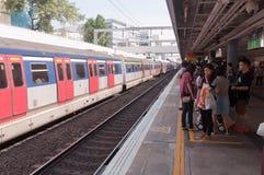 Γραμμή σιδηροδρόμων kowloon-καντονίου, Χογκ Κογκ Στοκ εικόνες με δικαίωμα ελεύθερης χρήσης