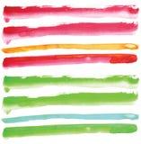 γραμμή στοιχείων watercolour Στοκ Φωτογραφία