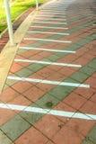 Γραμμή στο πάτωμα για το bicycl Στοκ φωτογραφία με δικαίωμα ελεύθερης χρήσης