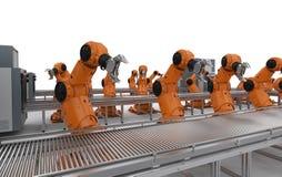 Γραμμή συνελεύσεων ρομπότ απεικόνιση αποθεμάτων