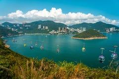 Γραμμή τελεφερίκ στο ωκεάνιο πάρκο, Χονγκ Κονγκ στοκ φωτογραφίες με δικαίωμα ελεύθερης χρήσης