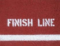 Γραμμή τερματισμού - σημάδι Στοκ Φωτογραφία