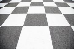 Γραμμή τερματισμού στο κύκλωμα Στοκ φωτογραφία με δικαίωμα ελεύθερης χρήσης