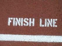 γραμμή τερματισμού Στοκ φωτογραφία με δικαίωμα ελεύθερης χρήσης