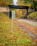 Γραμμή τραίνων της δυτικής Βιρτζίνια φθινοπώρου Στοκ Εικόνες