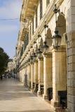 γραμμή φαναριών της Κέρκυρας Ελλάδα αψίδων Στοκ φωτογραφία με δικαίωμα ελεύθερης χρήσης