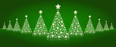 Γραμμή χριστουγεννιάτικων δέντρων   Στοκ φωτογραφίες με δικαίωμα ελεύθερης χρήσης