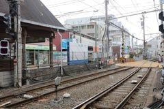 Γραμμή Enoden σε Kamakura, Ιαπωνία Στοκ Φωτογραφία