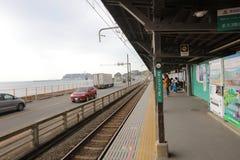 Γραμμή Enoden σε Kamakura, Ιαπωνία Στοκ Εικόνες