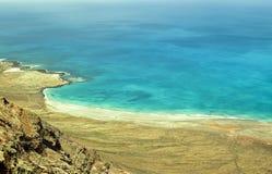 Γραμμή Lanzarote ακτών στοκ φωτογραφίες με δικαίωμα ελεύθερης χρήσης