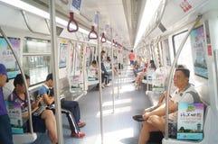 Γραμμή 11, Shenzhen, Κίνα μετρό Στοκ φωτογραφία με δικαίωμα ελεύθερης χρήσης