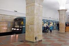 Γραμμή Sokolnicheskaya - η πρώτη γραμμή του μετρό της Μόσχας Στοκ φωτογραφία με δικαίωμα ελεύθερης χρήσης