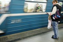 Γραμμή Sokolnicheskaya - η πρώτη γραμμή του μετρό της Μόσχας Στοκ Φωτογραφίες