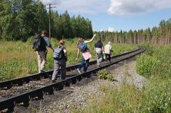 γραμμή trailway στοκ φωτογραφία