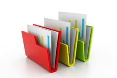 γραμματοθήκη εγγράφων διανυσματική απεικόνιση