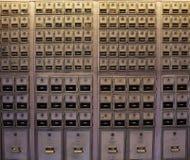 Γραμματοκιβώτια στο ταχυδρομείο Στοκ Εικόνα
