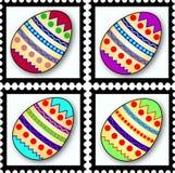 γραμματόσημα αυγών Πάσχας Στοκ Εικόνες