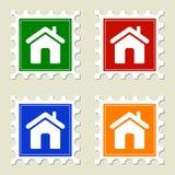 γραμματόσημα βασικών σημα&del Στοκ Φωτογραφίες