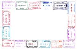 γραμματόσημα διαβατηρίων Στοκ Εικόνες