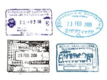γραμματόσημα διαβατηρίων στοκ φωτογραφία με δικαίωμα ελεύθερης χρήσης