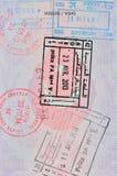 γραμματόσημα εισόδων στην τουρκική σελίδα διαβατηρίων Στοκ Εικόνες