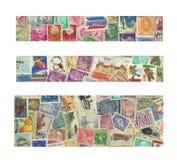 γραμματόσημα εμβλημάτων Στοκ φωτογραφίες με δικαίωμα ελεύθερης χρήσης