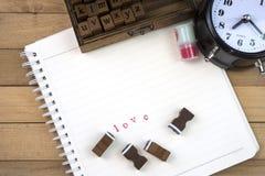 Γραμματόσημα επιστολών αγάπης για την ημέρα βαλεντίνων Στοκ Εικόνα