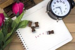 Γραμματόσημα επιστολών αγάπης για την ημέρα βαλεντίνων Στοκ φωτογραφίες με δικαίωμα ελεύθερης χρήσης