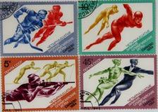 γραμματόσημα ΕΣΣΔ Yuri ατόμων gagarin αστροναυτών πρώτα Στοκ φωτογραφία με δικαίωμα ελεύθερης χρήσης