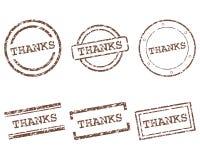 Γραμματόσημα ευχαριστιών απεικόνιση αποθεμάτων