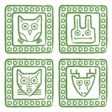 Γραμματόσημα ζώων καθορισμένα Στοκ Εικόνες