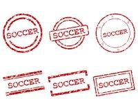 Γραμματόσημα ποδοσφαίρου Στοκ Φωτογραφίες