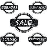 γραμματόσημα πώλησης διανυσματική απεικόνιση