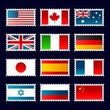 γραμματόσημα σημαιών Στοκ φωτογραφία με δικαίωμα ελεύθερης χρήσης
