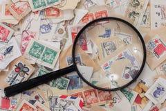 γραμματόσημα συλλογής Στοκ Εικόνα
