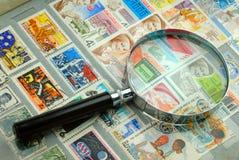 γραμματόσημα συλλογής Στοκ Φωτογραφία