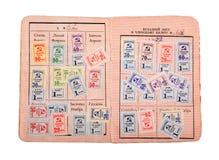 Γραμματόσημα συνδικάτου της ΕΣΣΔ Στοκ φωτογραφία με δικαίωμα ελεύθερης χρήσης